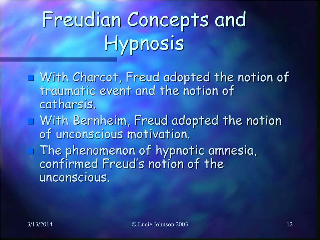 Freudian Concepts and Hypnosis