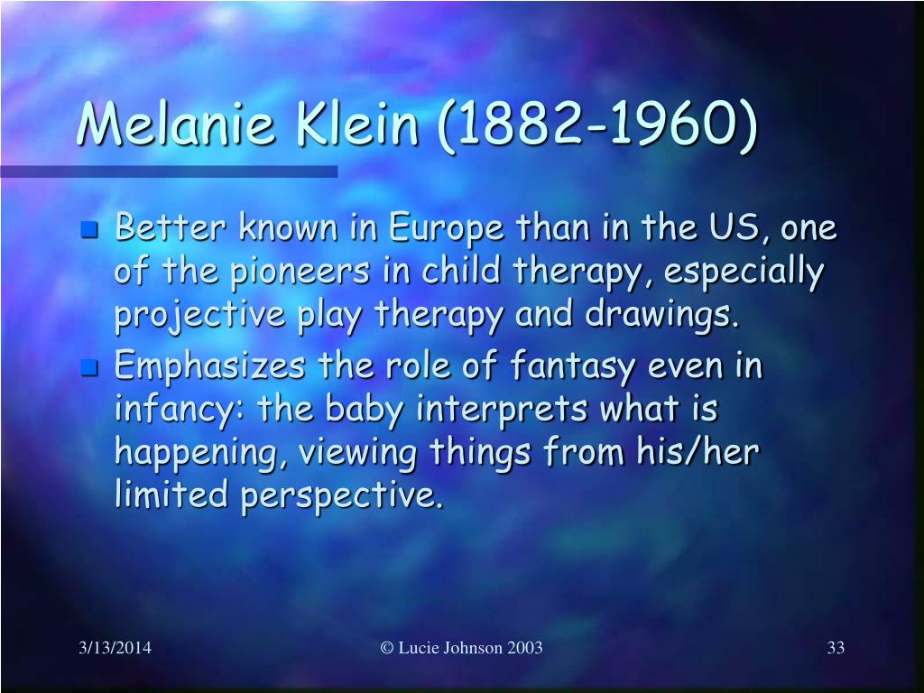 Melanie Klein (1882-1960)