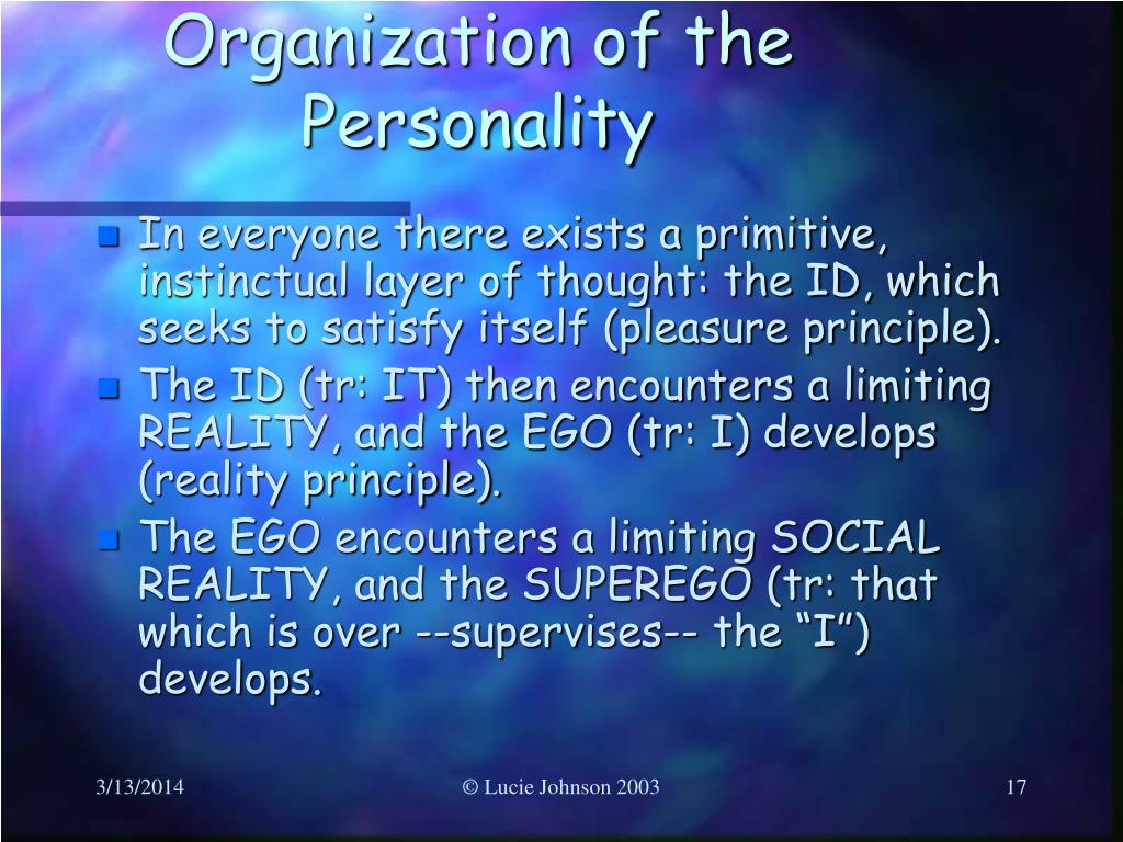 Organization of the Personality
