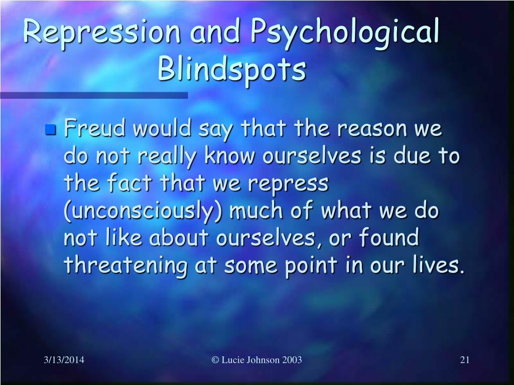 Repression and Psychological Blindspots