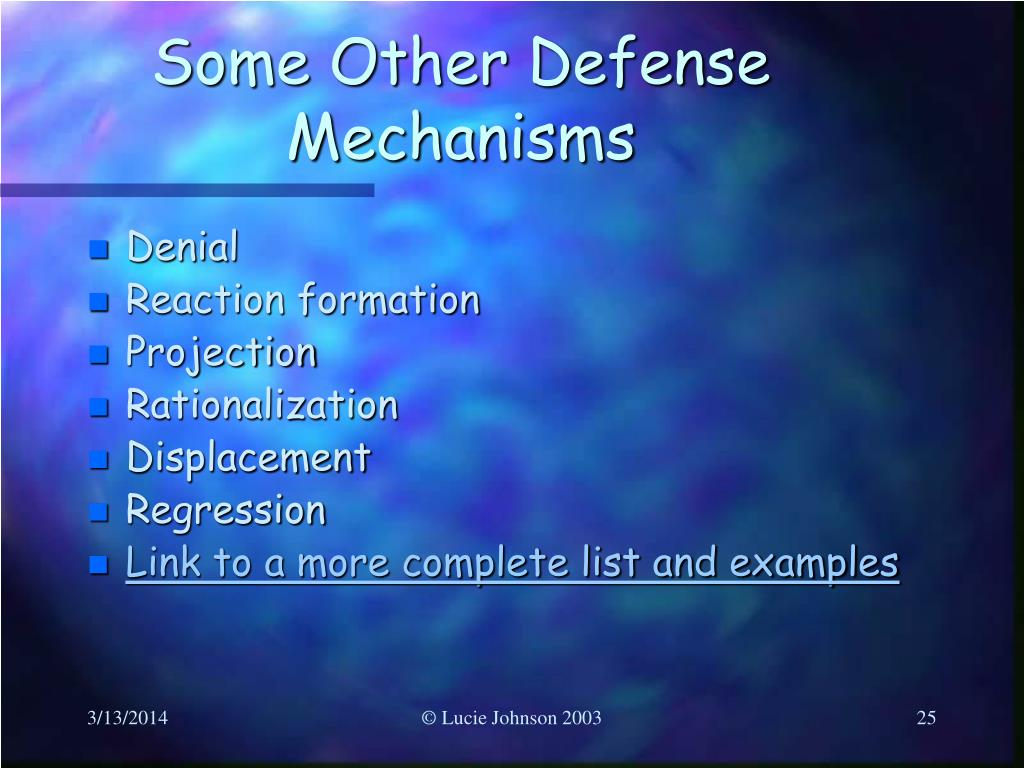Some Other Defense Mechanisms