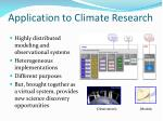 application to climate research