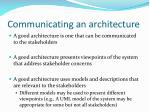 communicating an architecture