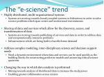 the e science trend