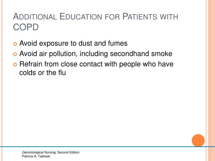 Additional Education for Patients with COPD