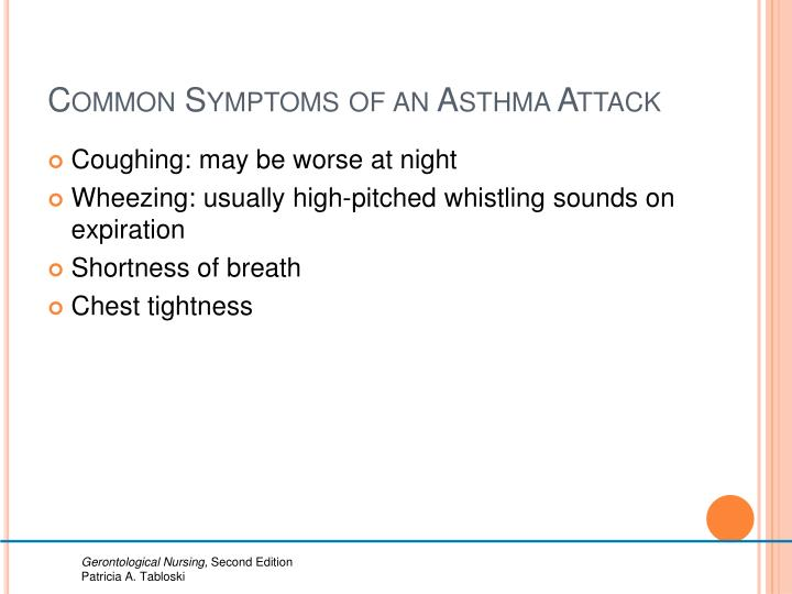 Common Symptoms of an Asthma Attack