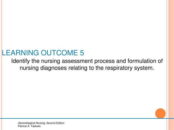 LEARNING OUTCOME 5