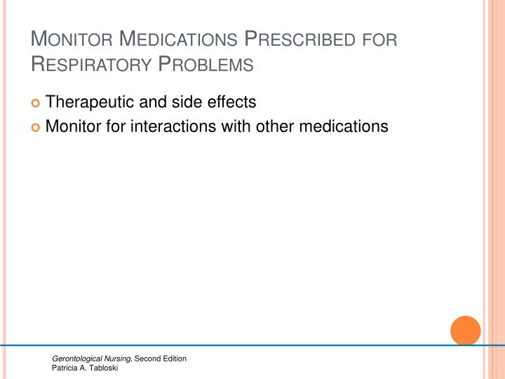 Monitor Medications Prescribed for Respiratory Problems