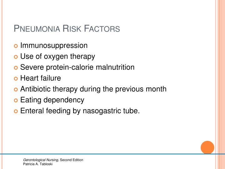 Pneumonia Risk Factors