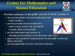 center for mathematics and science education