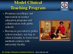 model clinical teaching program