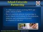 school university partnership