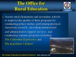 the office for rural education