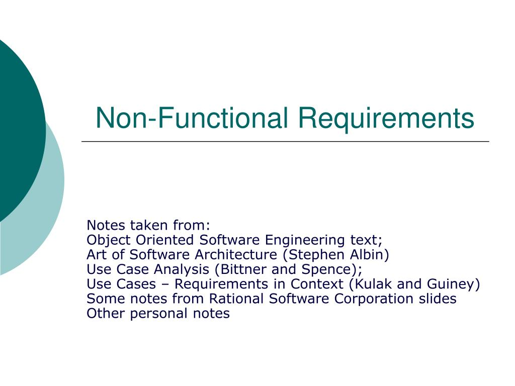 non functional requirements l.