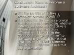 conclusion want to become a software architect27