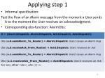 applying step 1