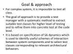 goal approach