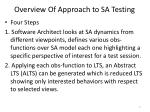 overview of approach to sa testing