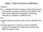 step 1 obs functions defintion