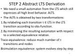 step 2 abstract lts derivation