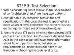 step 3 test selection20