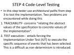 step 4 code level testing