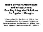 nike s software architecture and infrastructure enabling integrated solutions for gigahertz designs