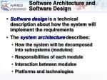 software architecture and software design15