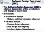 software design document sdd