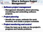 what is software project management