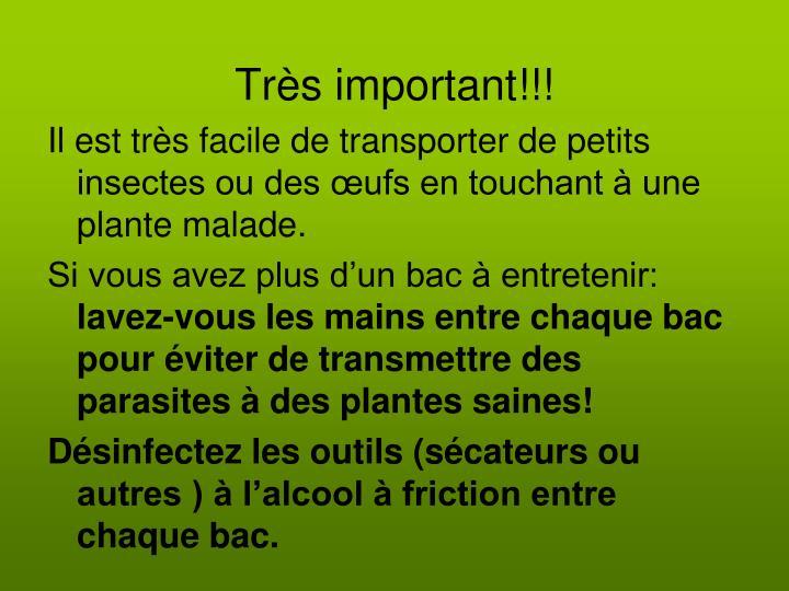 Très important!!!