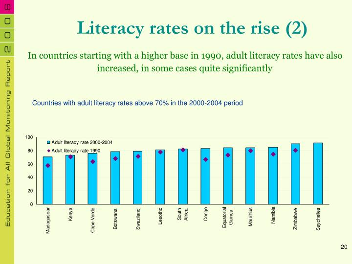 Literacy rates on the rise (2)