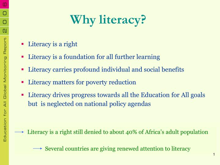 Why literacy