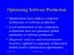 optimizing software production10