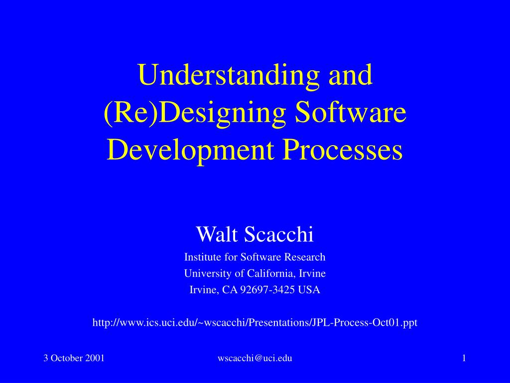 understanding and re designing software development processes l.