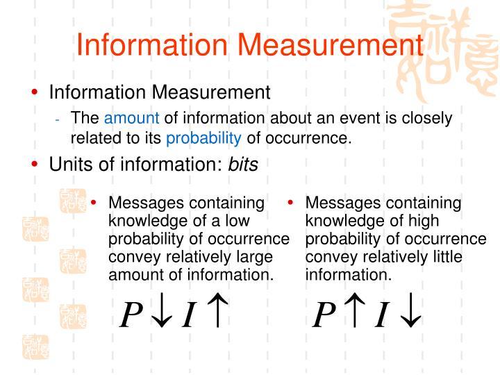 Information Measurement