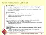 other measures of cohesion