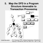 5 map the dfd in a program structure amenable to transaction processing