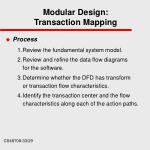 modular design transaction mapping
