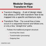modular design transform flow