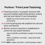 perform first level factoring