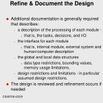 refine document the design