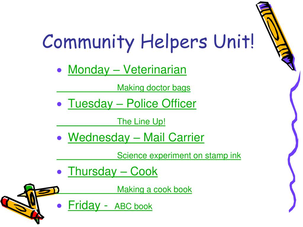 Community Helpers Unit!