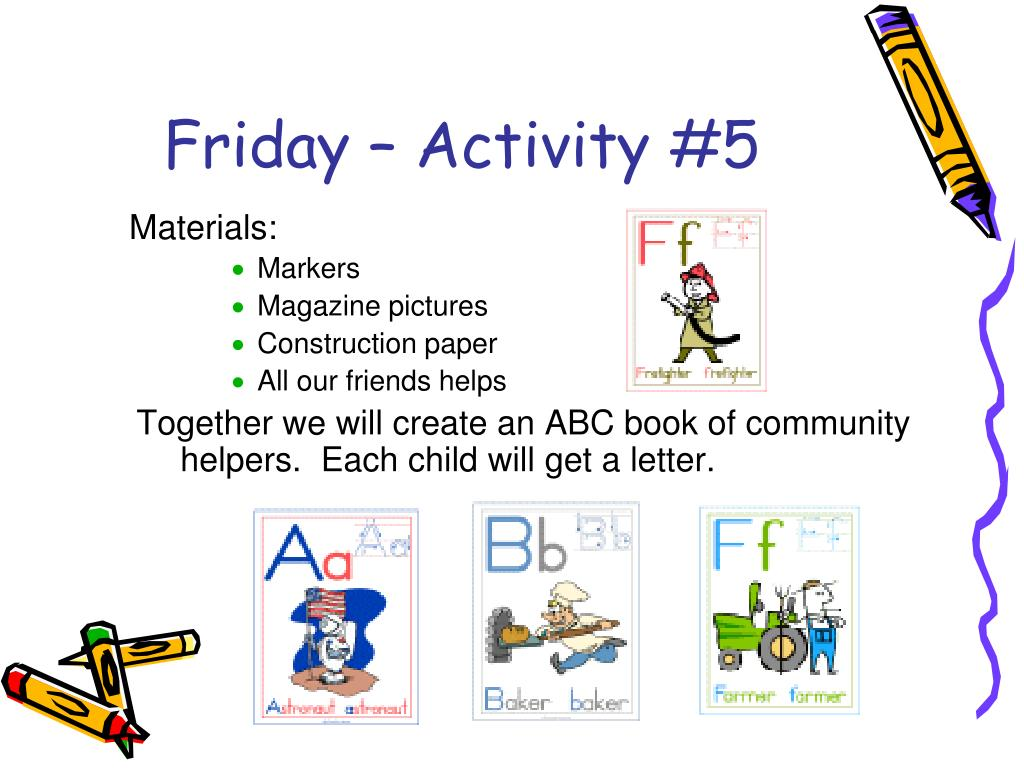 Friday – Activity #5