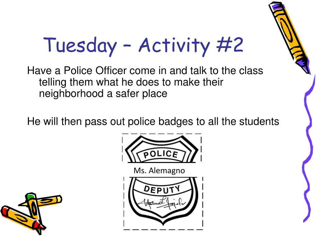 Tuesday – Activity #2