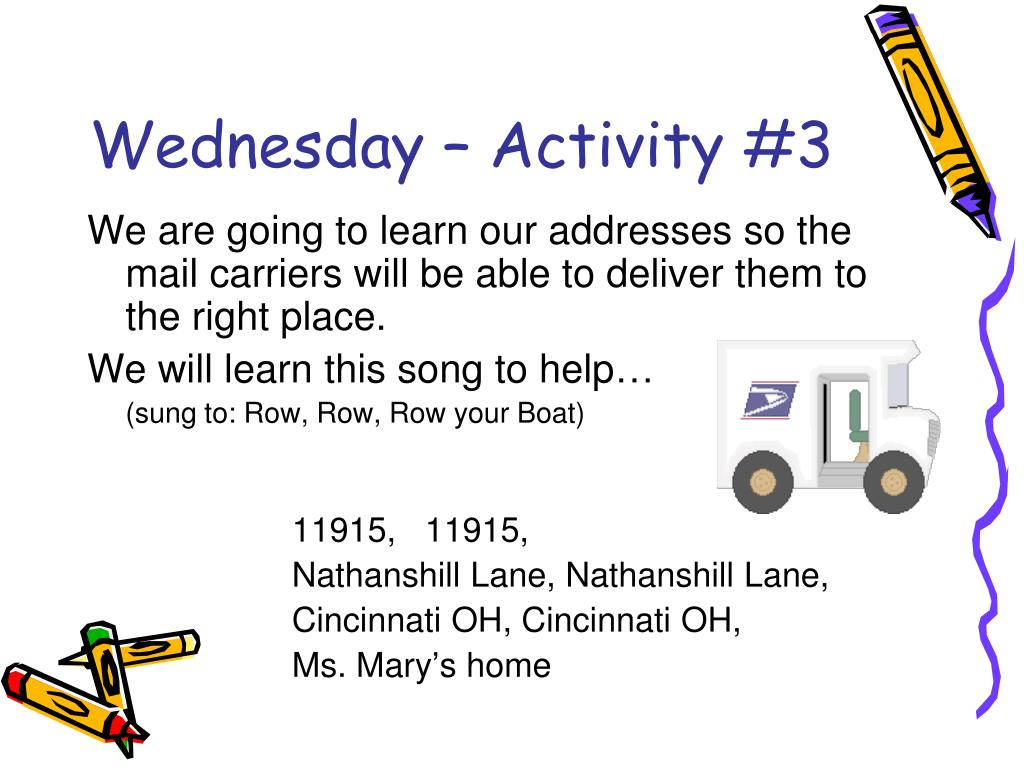 Wednesday – Activity #3