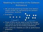 modeling the workflow of the software architecture