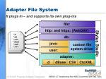 adapter file system