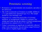 proteinuria screening