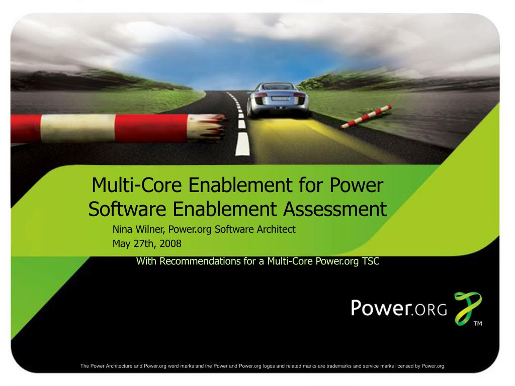 with recommendations for a multi core power org tsc l.